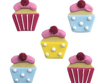 Edible Sweet Treats Sugar Cake Topper Cupcake Decoration