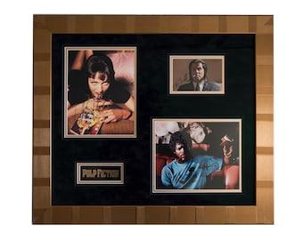 20x24 Framed Pulp Fiction unique autographs: John Travolta, Samuel L. Jackson, Uma Thurman