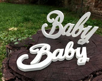 2 Baby photo props | Unborn props | Baby wood ornaments | Baby shower ornaments | Wooden laser cut name | Baby shower props