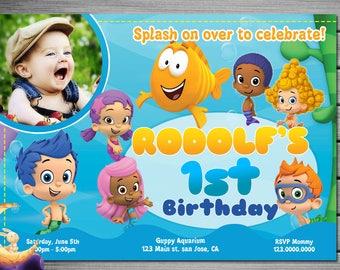 Bubble Guppies Invitation, Bubble Guppies Birthday, Bubble Guppies Party, Bubble Guppies Invites, Bubble Guppies Printables, Bubble Guppies