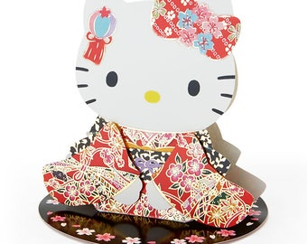 Hello Kitty Japanese style card (kimono) SANRIO from Japan kawaii