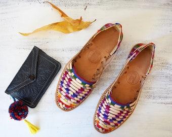 Batik-Vintage Huarache Sandals