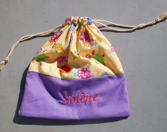Pouch, small purse personalized with your child's name.