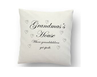 Personalised Grandmas cushion cover, printed cushion cover, sublimation ink and a heat press