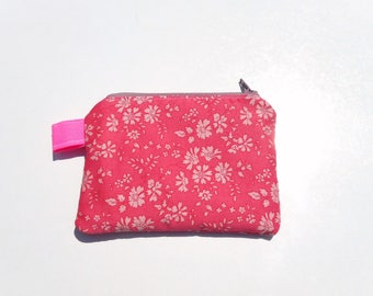 liberty of London coin purse , free shipping , liberty of London zippered pouch , floral wallet