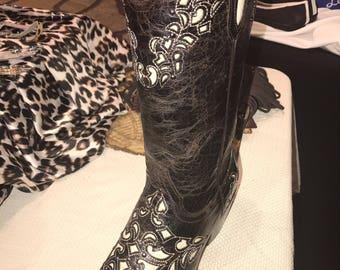 Estampida deep brown leather boots