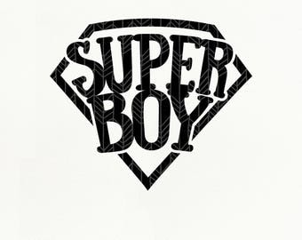 Super Boy SVG Files, Super Boy dxf, png, eps for Silhouette Studio & Cricut, Cut File
