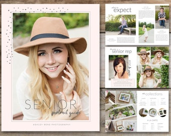 Senior Magazine Template. Senior Portrait Guide. Magazine Template for Photographers. Senior Welcome Guide Magazine. INSTANT DOWNLOAD.