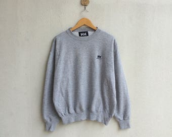 Vintage 90's Helly Hansen Sweatshirt Embroidery Small Logo