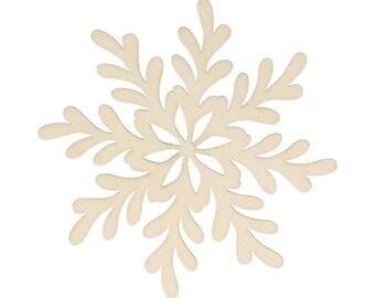 wooden snowflake pattern