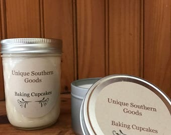 Baking Cupcakes soy candle 8 oz