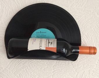 Retro Vinyl LP Record Wine Bottle, Magazine Holder