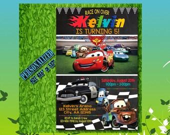 Cars Invitation / Cars Birthday / Cars Invite / Cars Party / Cars Birthday Invitation / Cars Party Invitation / Cars Birthday Party / SL84