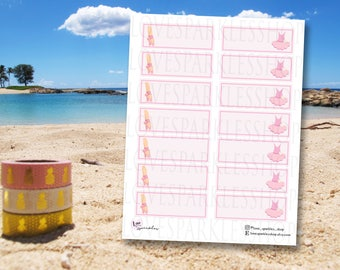 Ballet with Message Box | Sport | Activity | Functional | Planner Sticker | Matte | Scrapbooking