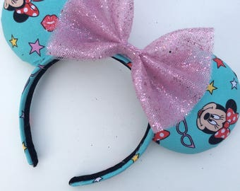 Teal Minnie Mouse ears