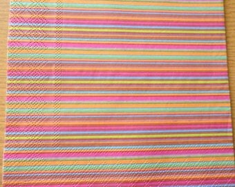Multicolored stripes paper towel