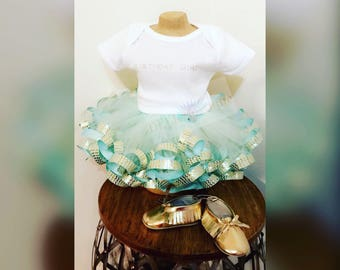 Birthday Ribbon Tutu Outfit Set
