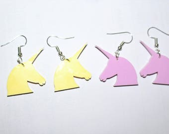 Unicorn earrings - pastel colours