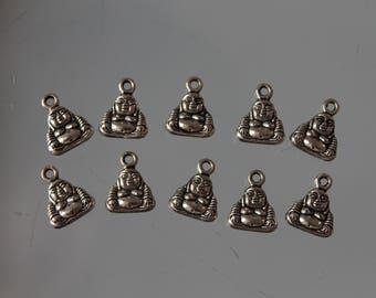 10 charms - jewelry - silver bracelet - zen - Buddha charm