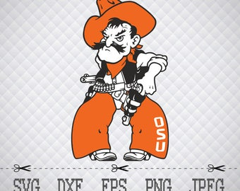 Oklahoma State Cowboys Logo SVG DXF EPS Png Digital Cut Vector Files for Silhouette Studio Cricut Design Space Cameo & Cricut Explore