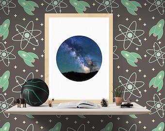 Digital Prints, Sky Print, Night Sky Art Print, Starry Night, Milky Way Print, Modern Art, Starry Night Print Art, Instant Download