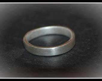 Silver Plain Unisex Ring - Silver Precious Metal Clay (PMC), Handmade, Ring - (Product Code: ACM094-17)