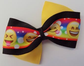 Popular Emoji !!!  Girl's hair bow, Hair bow for girls, Character hair bow, Barrettes and clips, Birthday, Hair accessory