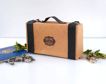 Craft box | suitcase craft packaging | packaging design | bow tie packaging | packaging 100pcs