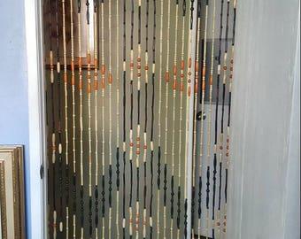 Vintage 1960's Beaded Curtain