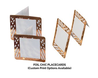 Copper Place Cards,(PACK OF 20), Foil Chic Design,Wedding Place cards