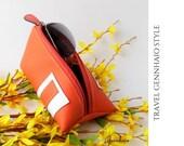Triangle Pouch - Sunglasses Case - Pyramid Bag - Triangle Bag - Cosmetic Bag - Make-up Bag