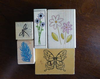 Nature Inspired Stamps - Set of 5 by Various Makers (Used)