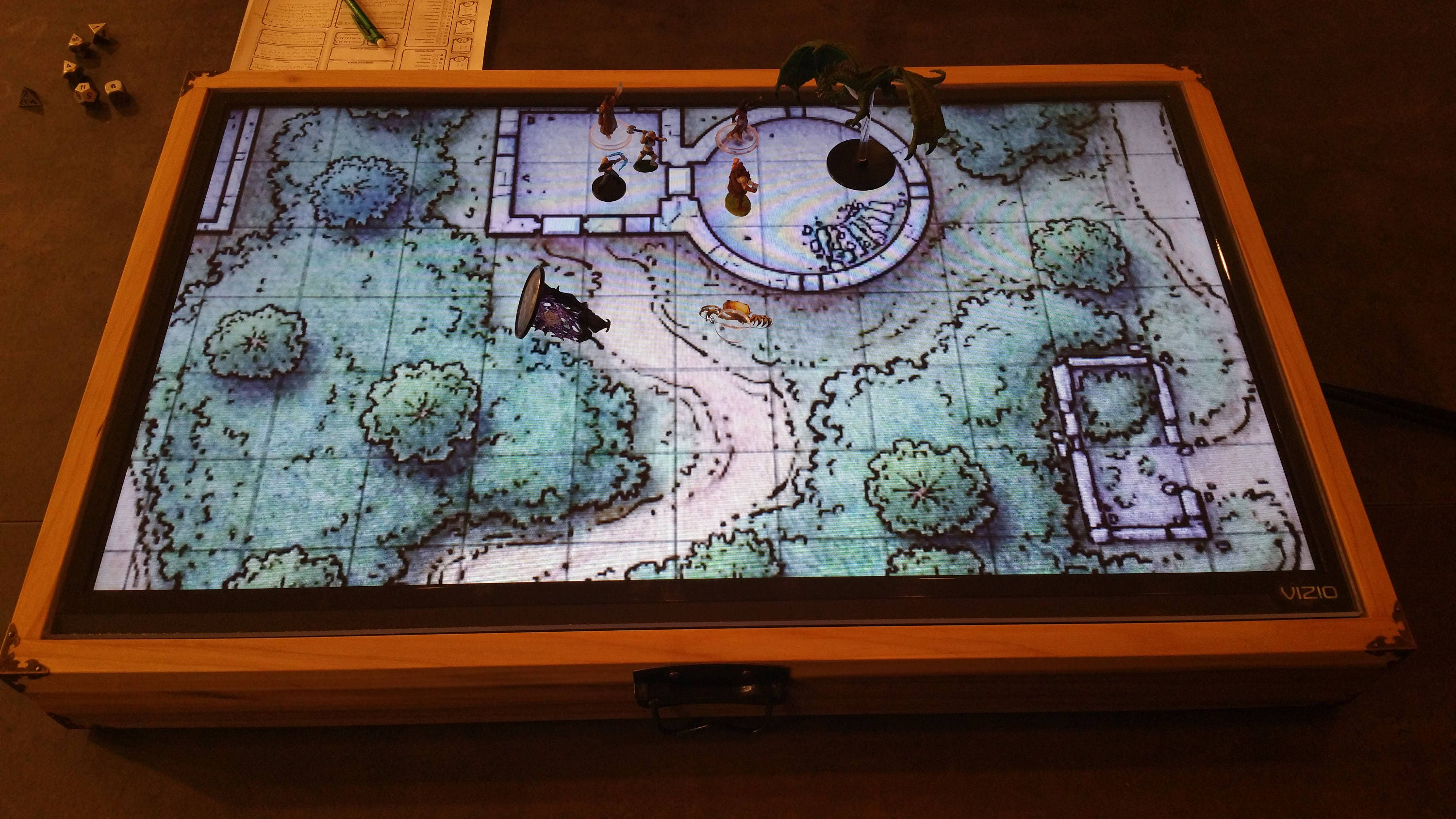 32 Digital Map Case Battle Mat For Dungeons Amp Dragons
