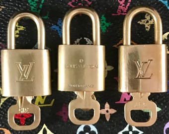 Authentic Louis Vuitton Lock & Key Set: Speedy, Alma, Neverfull, Keepall, Bandoliere, Doctor Bag