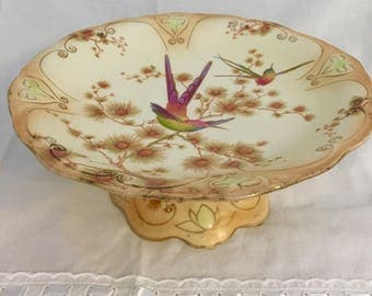 Crown Ducal Blushware cake stand cica 1910-1920