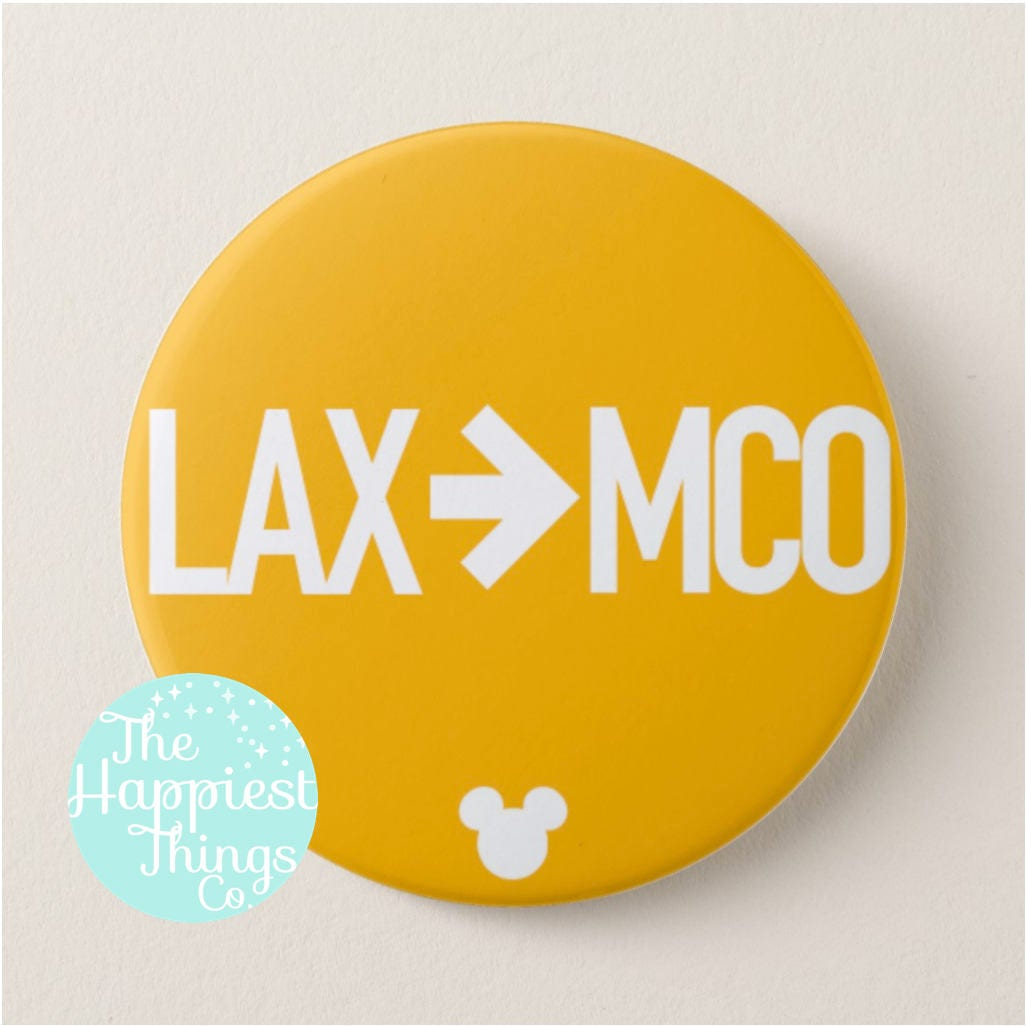 Customizable Disney Buttons Home To Mco 3 Pinback Button Airport