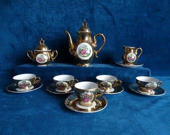 Bavaria style gold tea set 16 piece