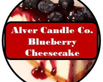 Handcrafted Soy Wax Candle Tin (Blueberry Cheesecake) Alver Candle Company