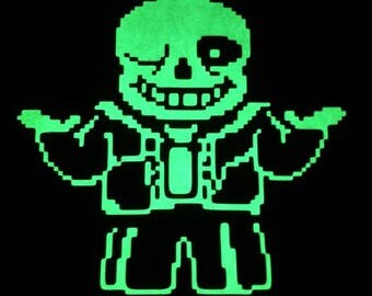 Sans game version glow in the dark tee