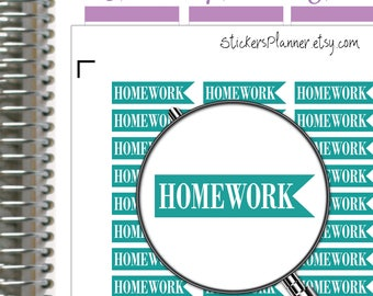 Home Work Stickers Home Work Planner Stickers Functional Planner Home Work Header Stickers Erin Condren Stickers Rainbow Stickers n15