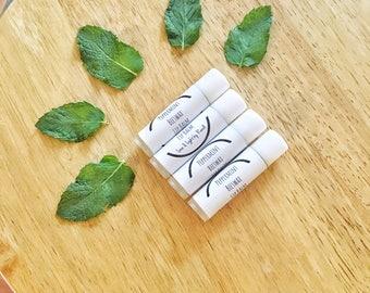 Organic Peppermint Beeswax Lip Balm, Peppermint Lip Balm, Shea butter Lip Balm, Peppermint Lip Balm