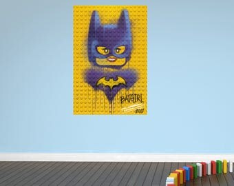 Batgirl lego bricks wall sticker decal