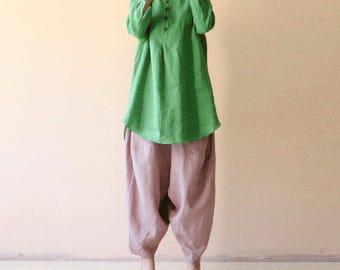 Cotton and linen shirt,Loose and comfortable,women's wear,Loose dress,Handmade shirt,