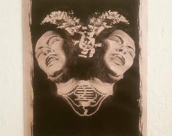 """Lithograph Billie Holiday Print: """"Lady Sings the Blues"""""""