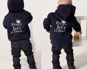 Personalised Baby and Toddler Zip Hoodie