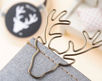 Deer - Paperclip - Journal Accessory - Traveler's Notebook Clip - Charm