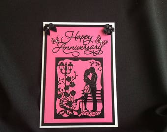 Anniversary Card, Happy Anniversary Card, Your Anniversary, Our Anniversary, Handmade Card