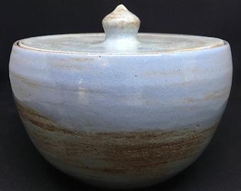 Ceramic Jar, Lidded Jar, Handmade Jar, Lidded Bowl, Ceramic Bowl, Blue Jar, Candy Bowl, Candy Jar