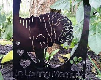 In Loving Memory Bulldog Sign