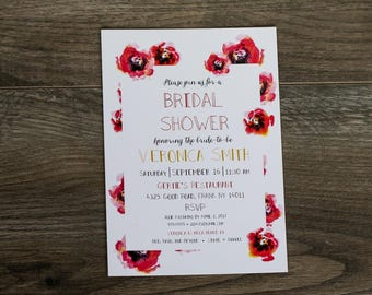 Poppy Bridal Shower Invitation